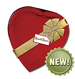 Russell Stover 20 Oz. Assorted Chocolate Red Foil Valentine Heart