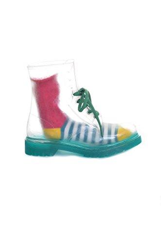 <p>COLORS OF CALIFORNIA Stivaletti trasparenti con calza in fantasia</p>