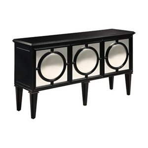Buy Low Price Treasurecombers Circles Black Mirrored Sideboard Cabinet – Hollywood Regency, Eco Friendly (B0046F1LK8)