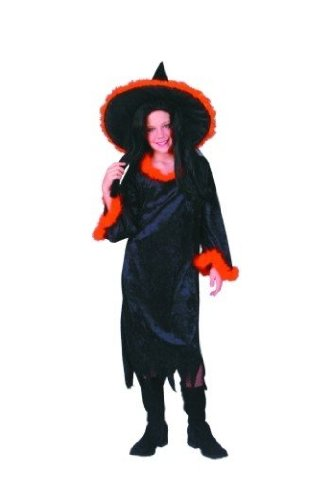 Gothic Witch - Child Large, Orang Costume