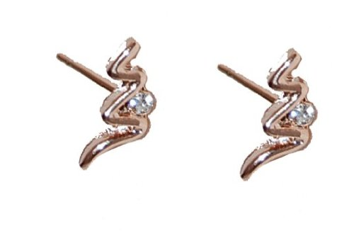 14ct Rose Gold Plated Anti-tarnish Classic Design Crystal Studded Dainty Stud Earrings (Supplied in a Gift Pouch) Unique Jewellery