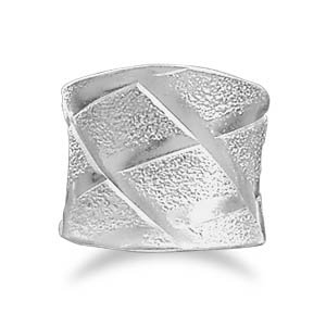 Sterling Silver Wide Ring with