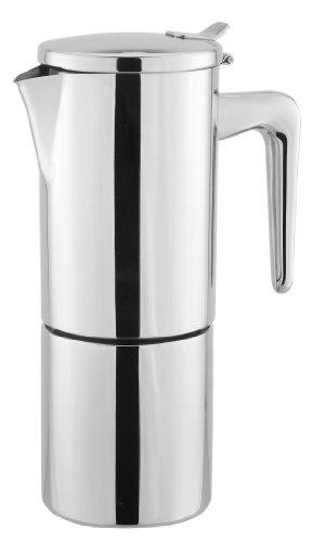 Cuisinox Alpha 10-Cup Espresso Coffeemaker, Stainless Steel