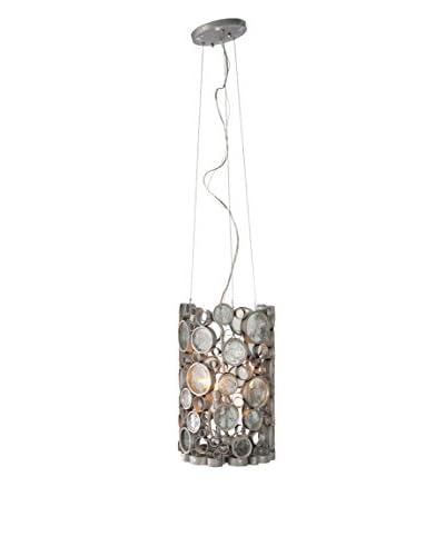 Varaluz Fascination 3-Light Pendant, Nevada Silver/Clear