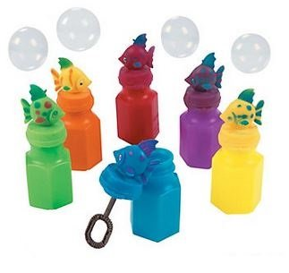 Tropical Fish Bubble Bottles-Indoor-Outdoor-Party Favors - 12 Assorted Tropical Fish Bubble Bottles