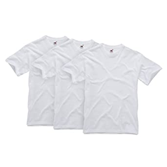 Fruit of the Loom - 011010330S - T-Shirt - homme - blanc  - Small