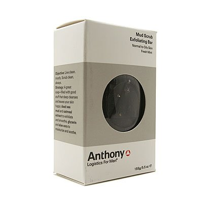 Anthony Logistics for Men Exfoliating Mud Scrub Bar, 5.5 Ounce