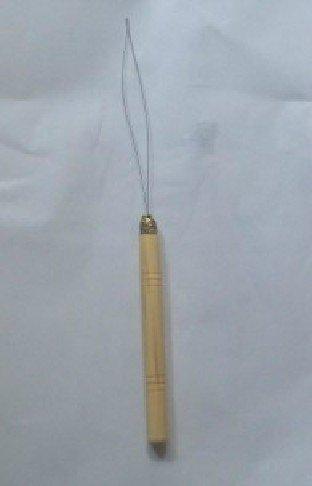 Hair Extension Pulling Threader Loop Wooden Handle Tool