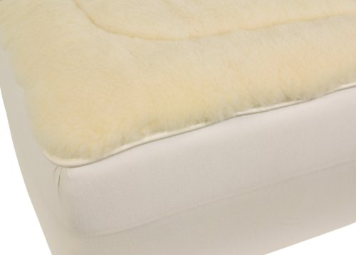 Herington All-Natural 350 Gsm Australian Wool/Japara Cotton Reversible Queen Mattress Pad, White