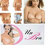 Washable Strapless Backless Self-adhesive Thickened Silicone Invisible Bra Breast Enhancer - One Pair (B Cup)