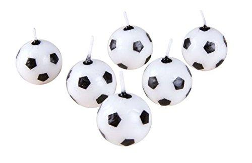 P'TIT CLOWN 80110 Bougie Ballon de Football - Blister de 6 - Multicolore