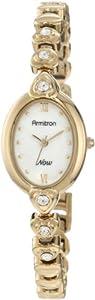 Armitron Women's 753902MPGPST Swarovski Crystal NOW Gold-Tone Heart Link Bracelet Watch