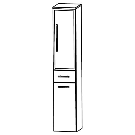 Puris Speed (HNA053BWL / R Tall Cupboard Bathroom Cupboard 30 CM