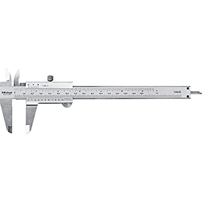 Mitutoyo 530 Series Vernier Caliper, Stainless Steel, Inch/Metric, For Depth/Inside/Outside/Step Measurements
