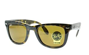 Ray-Ban 4105 710 Light Havana Crystal 4105 Folding Wayfarer Wayfarer Sunglasses