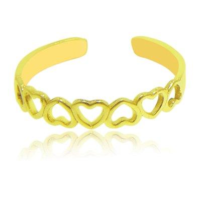 Open Heart Toe Ring in 14K Yellow Gold