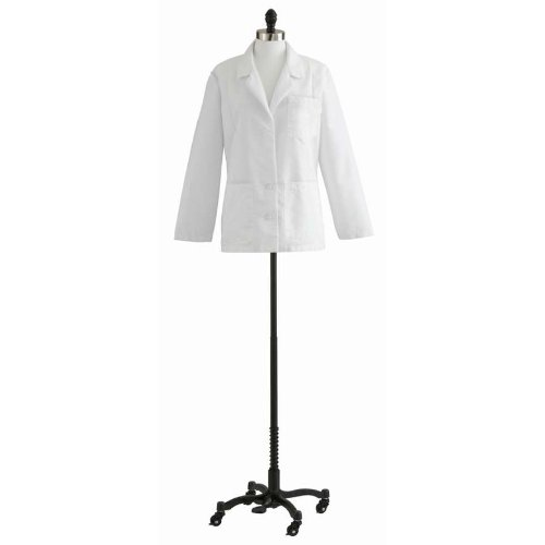 Ladies' Consultation Coat - White, Size 14 - 1 Each - Model 88018QHW14 ladies consultation coat white size 14 1 each model 88018qhw14