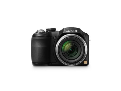 Panasonic Lumix DMC-LZ20K 16 MP Digital Camera with 21x Opitcal Zoom and 3-inch LCD - Black