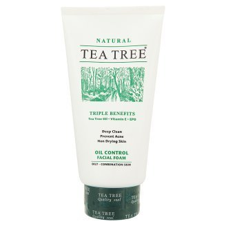Tea Tree Oil Control For Oily-Combination Skin Facial Foam Triple Benefits Tea Tree Oil, Vitamin E, Epo 140G Product Of Thailand