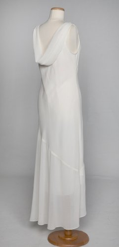 Ivory Crepe Wedding Gown