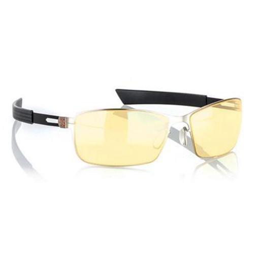 Gunnar Optiks Vay-01101 Vayper Full Rim Advanced Video Gaming Glasses With Headset Compatibility And Amber Lens Tint, Mercury/Onyx Frame Finish