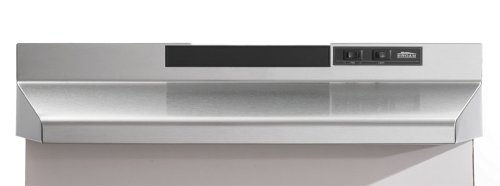 Broan F403604 36-Inch Two Speed 4-Way Convertible Range Hood, Stainless Steel