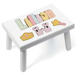 Personalized Princess Puzzle Stool by Ababy