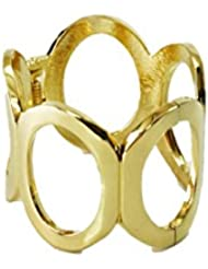 Shop Honour Heavy Golden Alloy Bracelet With Ring Formations For Women