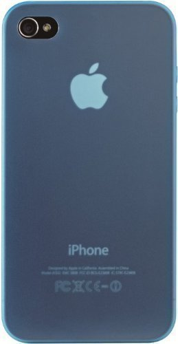 OZAKI 厚み0.4mmの超軽量なiPhone 4専用ケース ブルー IC844BL