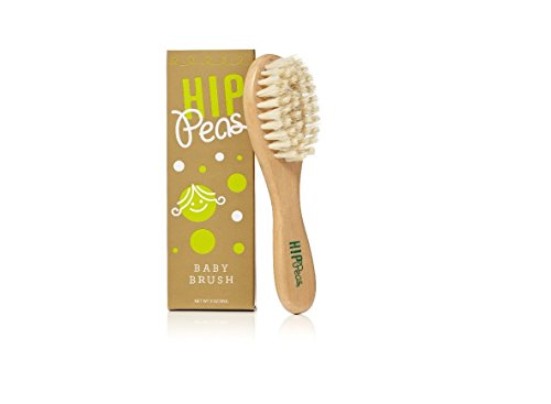 Hip Peas - Baby Brush Wooden Natural Kids Care (Wooden Baby Hair Brush compare prices)