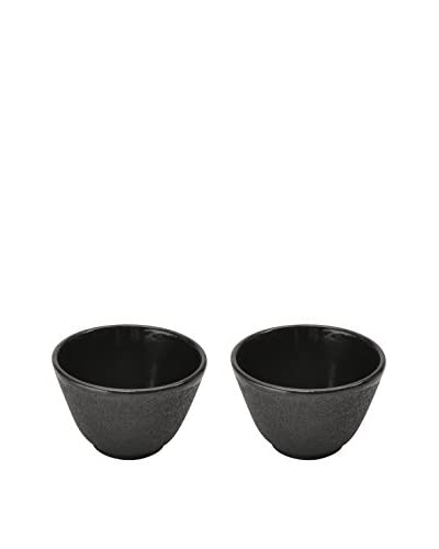 BergHOFF Studio Set of 2 Cast Iron Small Tea Cups, Black