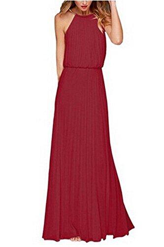 Eshion-Womens-Open-Shoulder-Cut-Out-Back-Pleated-Sleeveless-Chiffon-Maxi-Dress