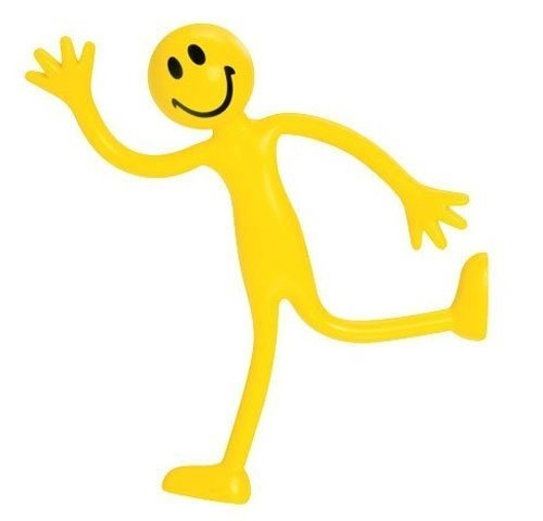 Yellow Smiley Face Bendy Man (Pkg. 2)