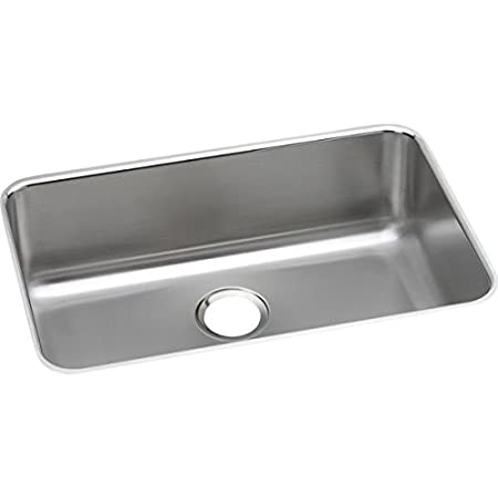 Elkay ELUH2416 - Gourmet (Lustertone) Stainless Steel Single Bowl Undermount Sink