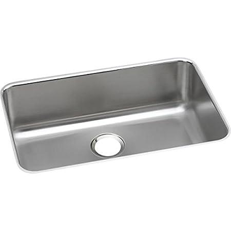 Elkay ELUH2416 - Gourmet (Lustertone) Stainless Steel Single Bowl Undermount Sink