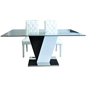 31jxluq3ffl sy300 jpg - Table salle a manger noire laquee ...