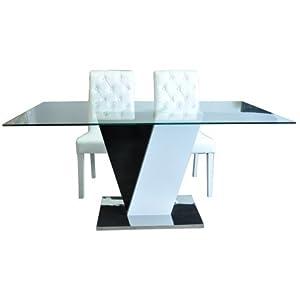 31jxluq3ffl sy300 jpg - Table a manger noir et blanc ...