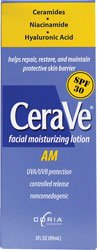 CeraVe Moisturizing Facial Lotion AM, 3 Ounce