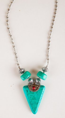 Zad Jewelry Turquoise Triangle Necklace (N2516)