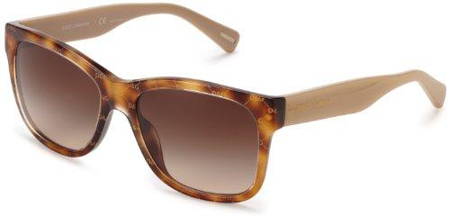 D&G Dolce & Gabbana Dg4158P 266413 Square Sunglasses,All Over Gold & Havana,55 Mm