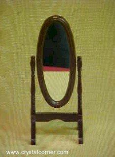 Aztec Wodden Standing Swivel Mirror D1165