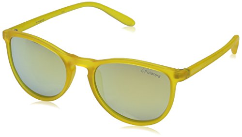 Polaroid - PLD 8016/N, Geometrico, POLICARBONATO, unisex, TRANSPARENT YELLOW/GREY GOLD MIRROR POLARIZED(PVI/LM C),48/18/135