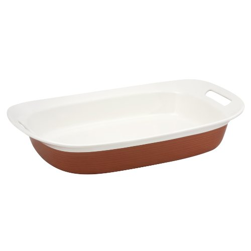 Corningware Etch 3-Quart Oblong In Brick
