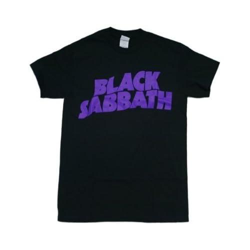 Black Sabbath Purple Logo Black T shirt