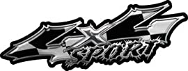 Wicked Series 4x4 Sport Racing Flag Decals - 6