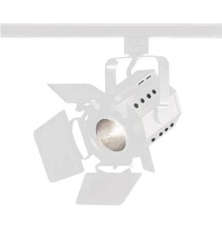 Theatrical Barndoor Track Light Fixture For Par20 Lamp, White