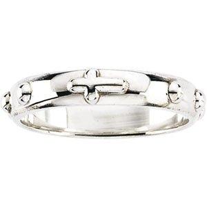 Genuine IceCarats Designer Jewelry Gift Sterling Silver Rosary Ring. Rosary Ring In Sterling Silver Size 10