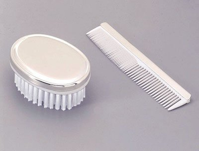 COMB/BRUSH - BOYS, NICKEL PLATED. [Baby Product]