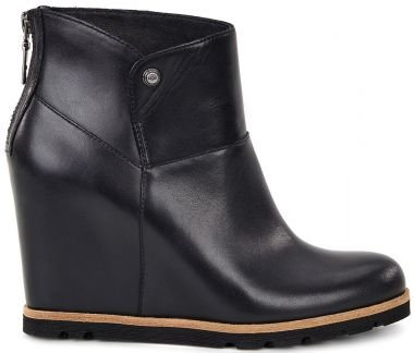 Ugg Australia Women's Amal Women's Leather Boot In Black In Size 37 Black