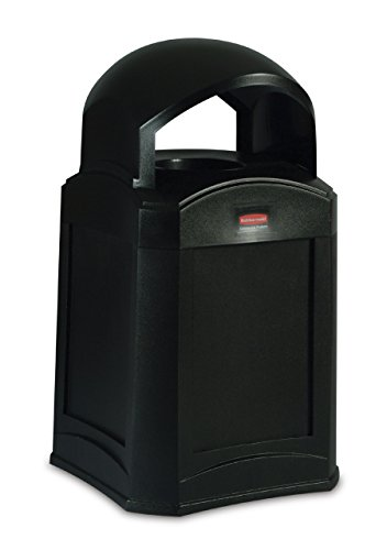 Rubbermaid Commercial Products Fg9W0100Bla Waste Receptacle, Standard Dome Top front-512183